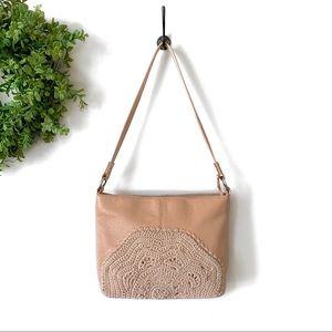 The SAK Indio Leather Hobo Sahara Crochet Purse
